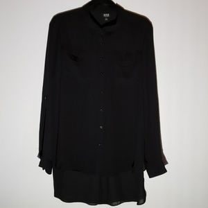 A.N.A Black Long Sleeve Blouse Size XL
